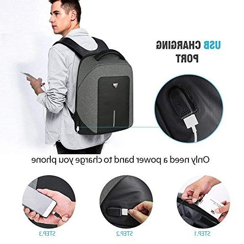 Business Backpack Men Backpack Anti Theft with USB Charging Water College School Computer & Men