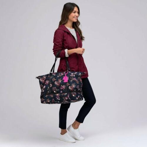VERA Large Midtown Travel Bag Airy Floral Pattern