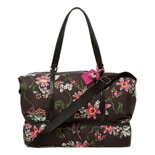 VERA Large Travel Tote Airy Floral Pattern