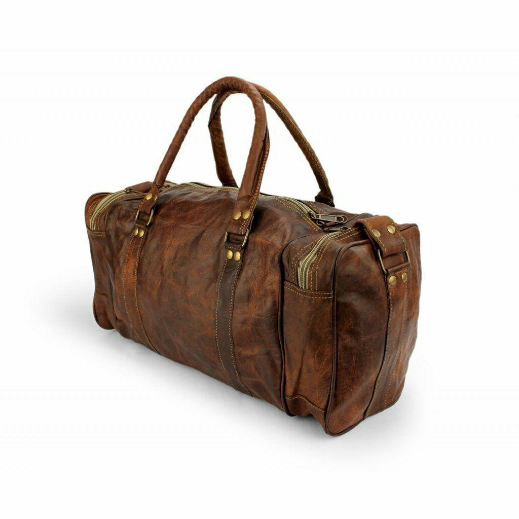 Leather Men S Vintage Holdall Luggage Overnight