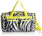 Rockland Luggage 19 inch Tote Bag, Yellow Zebra, One Size