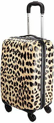 "Rockland Luggage 20"" Carry On Skin Leopard Medium Travel Bag"