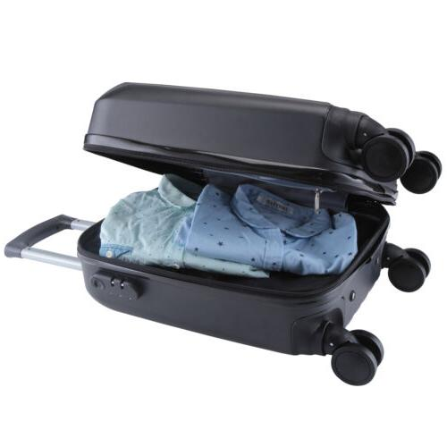 4Pcs Trolley On Luggage Bag Black