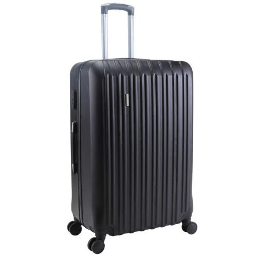 4Pcs Carry On Travel Set Bag Suitcase Black