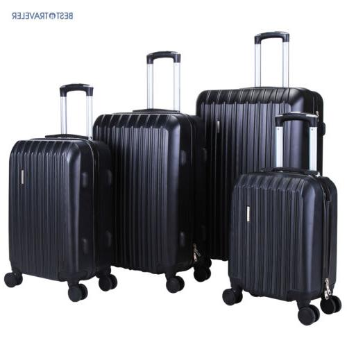 ABS Spinner 4Pcs Luggage Travel Set Bag Suitcase TSA Lock Bl