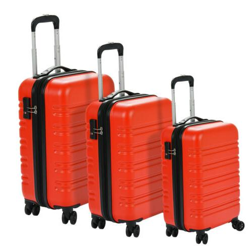 Luggage Travel Set ABS Trolley 360° Carry On Lock