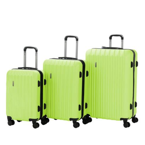 Luggage Set ABS Trolley Carry On Suitcase Lock