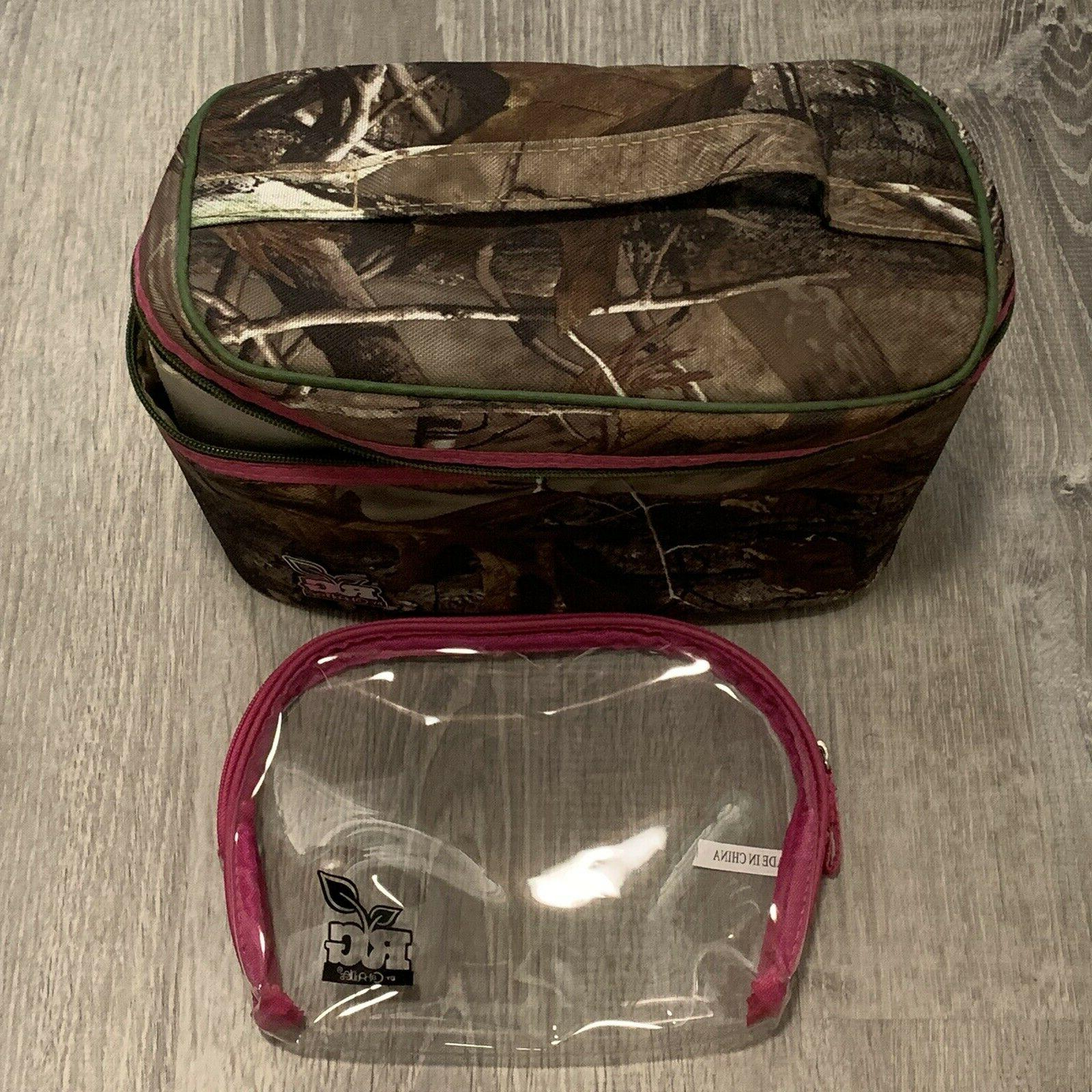 makeup bag case set green hunting theme