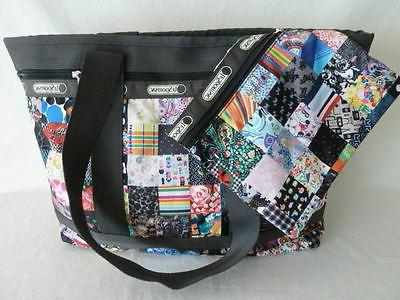 medium travel tote bag w pouch lepatch