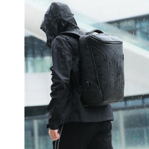 Men Anti-Thief Laptop USB Backpack School Computer