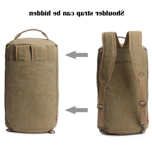 Men Canvas Military Backpack Camping