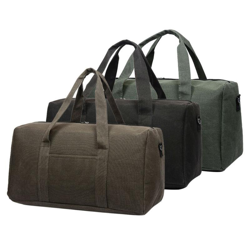 Men Luggage Canvas Travel Shoulder Bags Duffle Gym Bags Larg