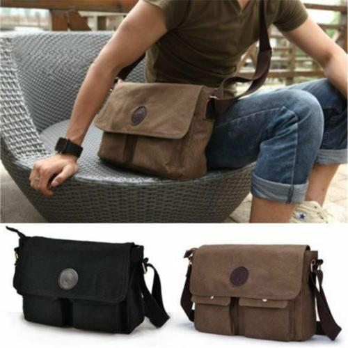 Men's Canvas Book Sling Travel