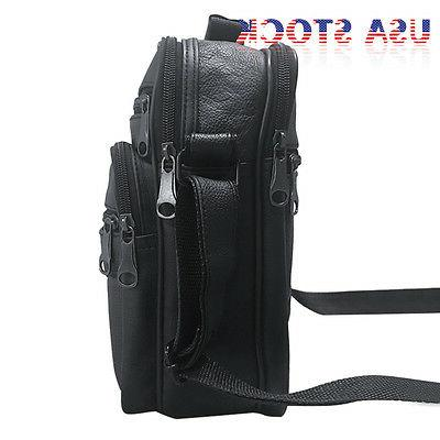 Men's Leather Bag Crossbody Shoulder Satchel Briefcase