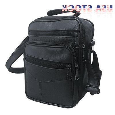 Men's Leather Messenger Crossbody Satchel Briefcase