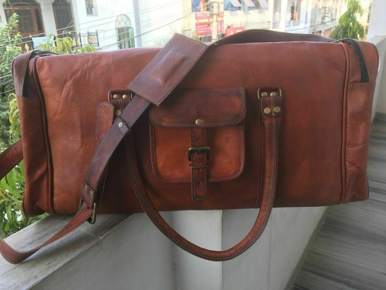 Men's Leather Handmade Duffle Weekend