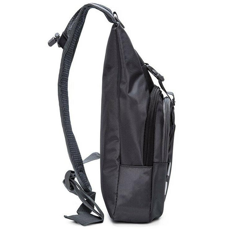 Men's Nylon Crossbody Bags Cycle Pack Travel Backpack