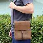 Men`s PU Chest Leather Bag Cross Body Pack Travel Classic Sl