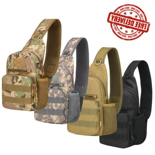 Men's Tactical Military Sling Chest Pack Outdoor Travel Shou