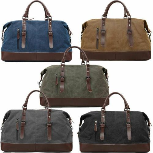 men s vintage military canvas leather travel
