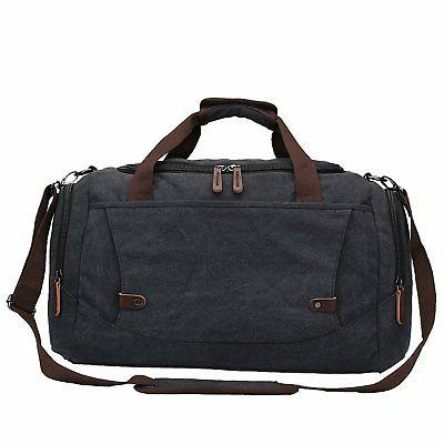 Toupons Mens Overnight Bag Canvas Weekend Travel Duffel Bag