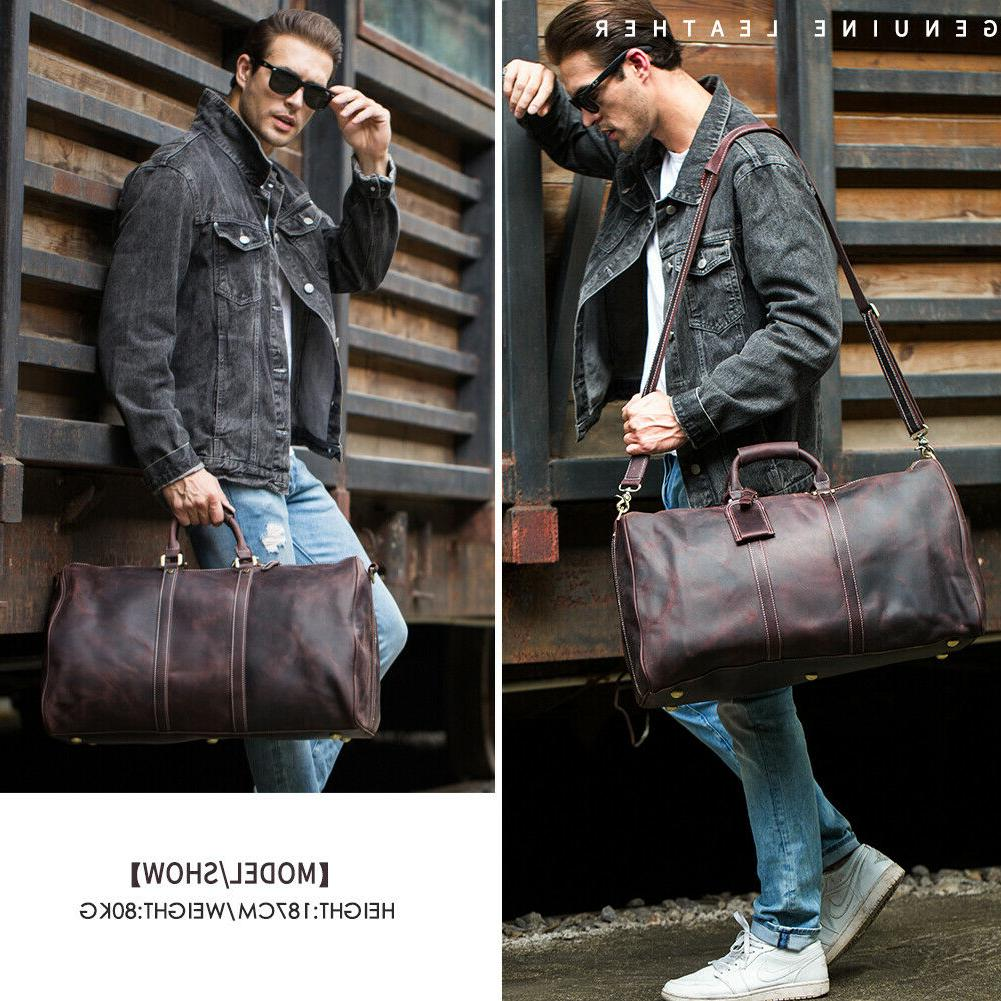 Mens Leather Travel Bag TOTE