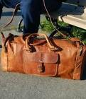 Mens Vintage New Leather Bag Duffle Travel Men Gym Luggage G