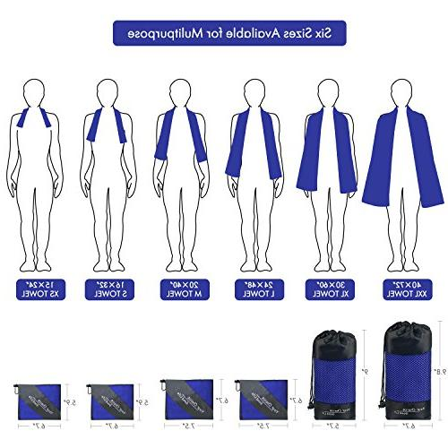 Your Microfiber Extra Large Quick Dry Towel Lightweight Absorbent and Antimicrobial Travel Storage , Blue