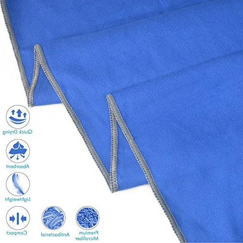 Your Microfiber Towel Extra Quick Dry Travel Towel Lightweight Compact Ultra Absorbent Travel Storage XXLarge , Dark