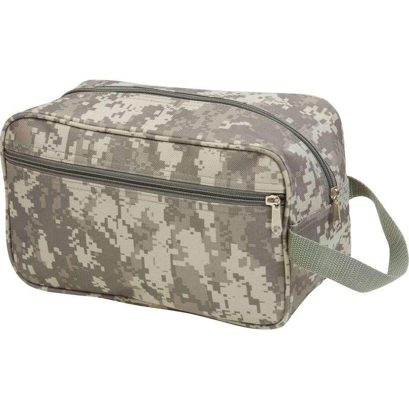 "11"" TOILETRIES BAG Green ACU Camo Travel Water Resistant Men"