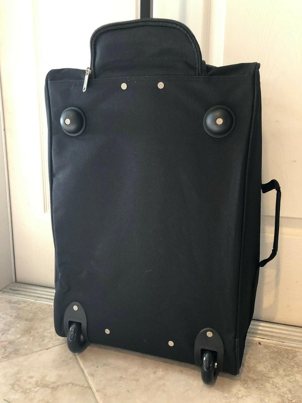 "5 Cities 21"" 55cm Black Carry On Luggage Cabin Approved Bag NWT"