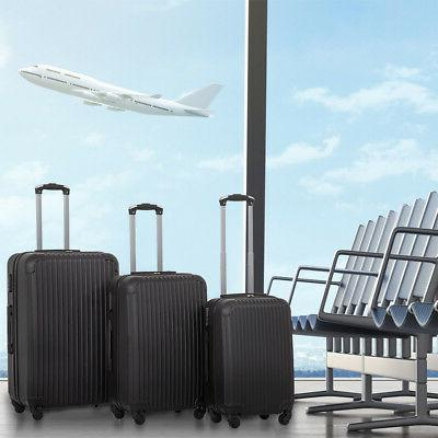 New 3 Pcs Luggage Travel Set Bag ABS Trolley Suitcase 4 Colo