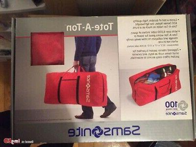 New Large RED Samsonite Tote-A-Ton Duffle Bag NIB