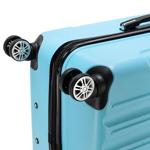 New Luggage Set Bag ABS Hard Shell lock