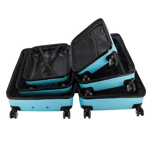 New 3PCS Set ABS Hard Shell lock Blue