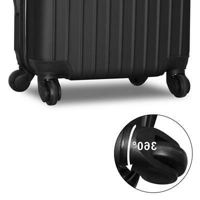 New 3Pcs Bag ABS Spinner Suitcase
