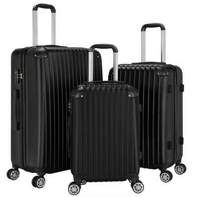 new 3pcs travel luggage bag abs trolley