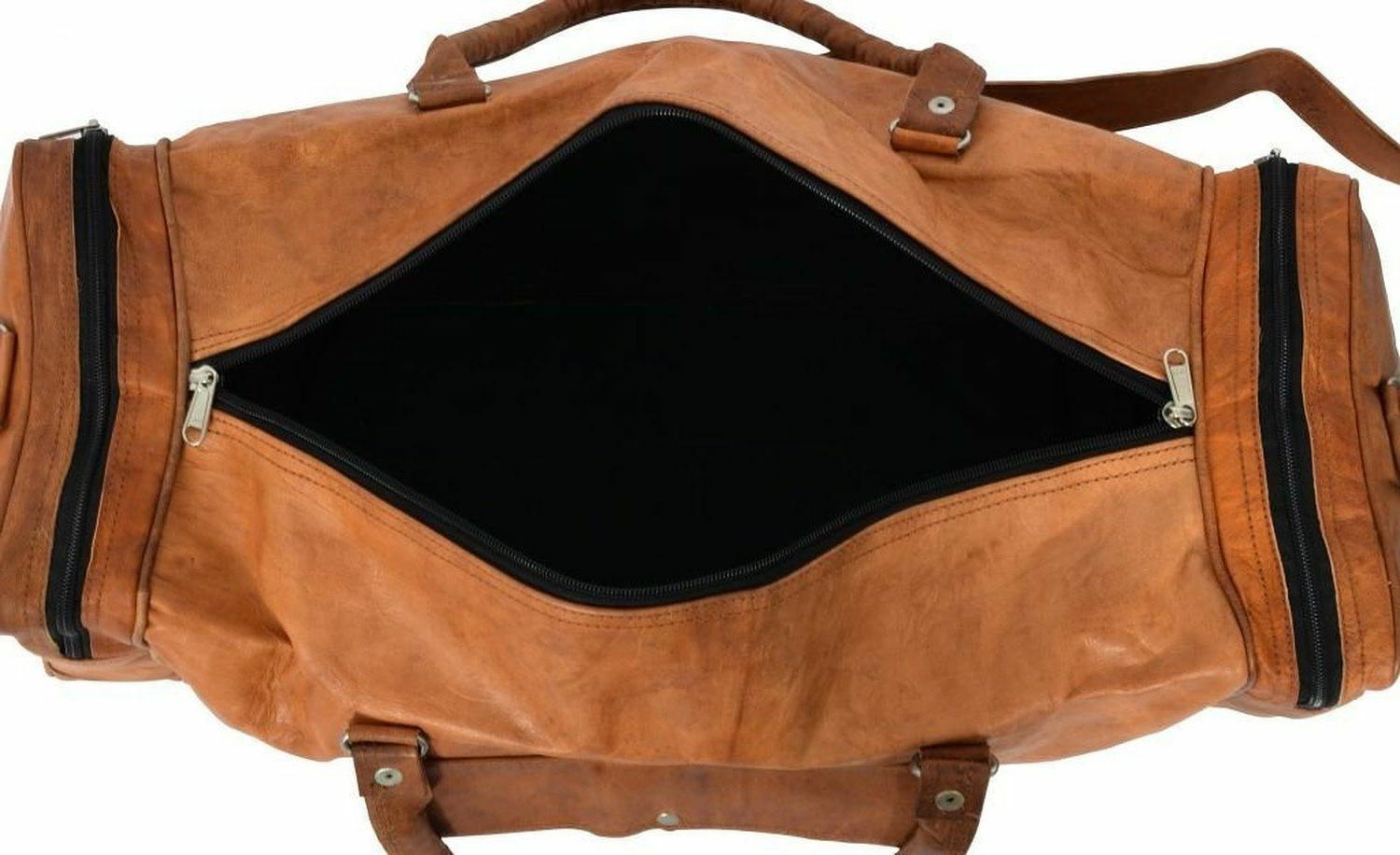 New Leather Men Duffle Luggage
