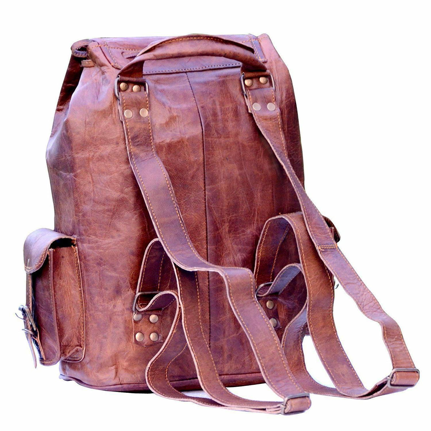 New Genuine Leather Back Pack Bag For Men's and Women's.