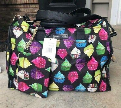 new weekender travel cupcake print colorful duffel