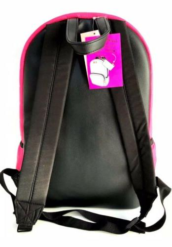 NWT JOHNSON Quilted Fushia/Black Travel & Pouch