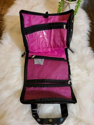 NWT CABOODLES travel bag Black with Polka