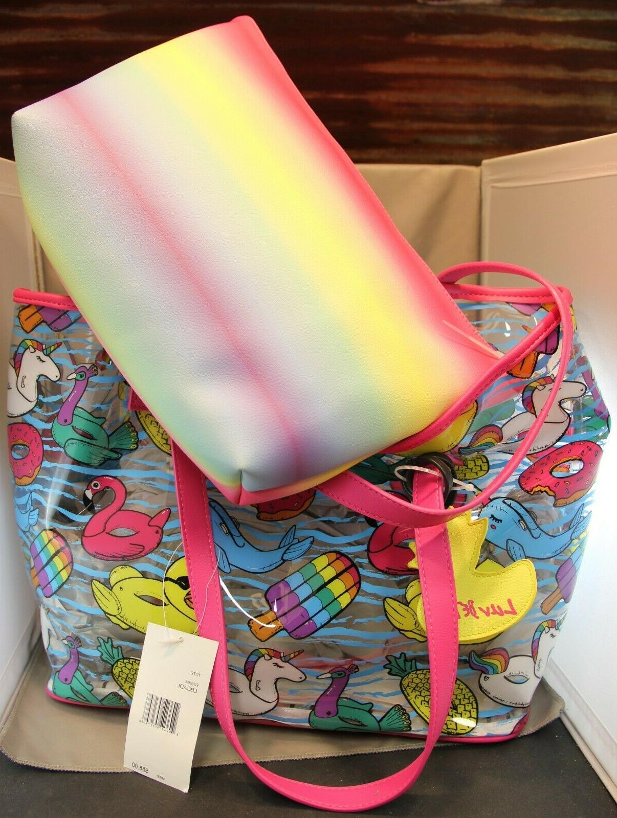 NWT Betsey Johnson Clear Pool Toys, pc purse