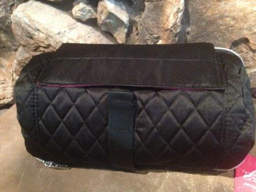 NWT CABOODLES TRAVEL BAG/CASE BLACK ROLL""