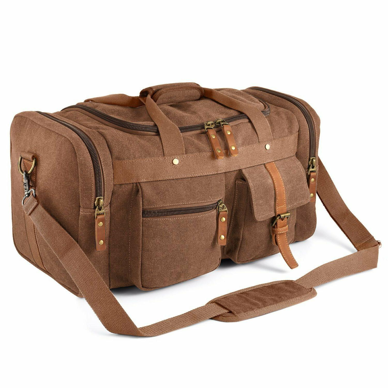 oversized canvas duffel overnight travel tote weekend