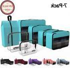 YAMIU Packing Cubes 7-Pcs Travel Organizer Accessories with