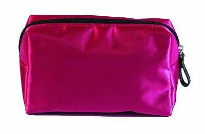 pixie perfect cosmetic bag pink satin small
