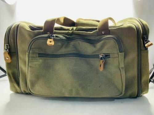 plambag canvas duffle bag for travel 50l