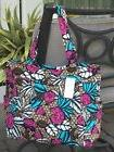 VERA BRADLEY PLEATED TOTE TRAVEL BAG PURSE in CANYON ROAD NE