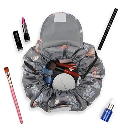 Portable Lazy Drawstring Bag Toiletry Waterproof Large for and